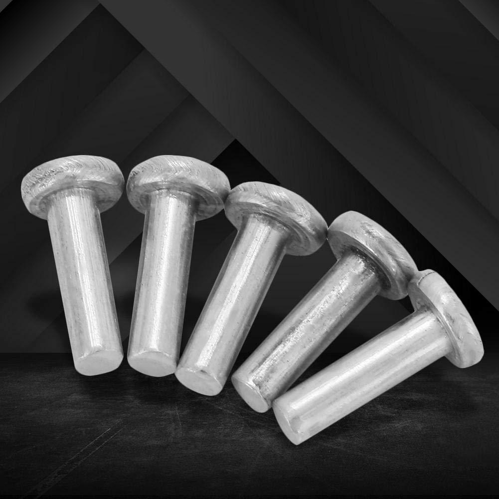 M2.5 Rivet 100pcs M2.56//8//10mm Flat Head Aluminum Rivets Countersunk Solid Rivets hex Socket Solid Rivet 6