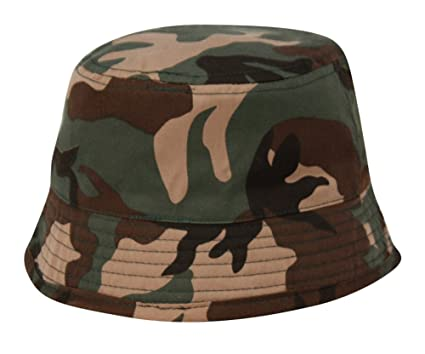 Unisex Indoor/Outdoor Kids Camo Bucket Hat (1 3 Years)
