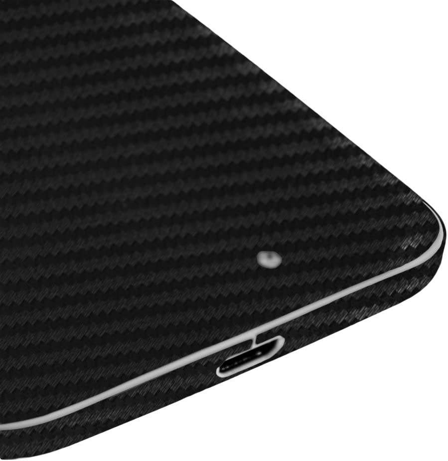 1st Gen, XT1056, 2013 TechSkin with Anti-Bubble Clear Film Screen Protector Skinomi Black Carbon Fiber Full Body Skin Compatible with Motorola Moto X Full Coverage