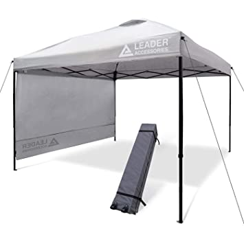 best service 9e364 58df4 Leader Accessories 10' x 10' Instant Canopy with 4-Pack Canopy Weights &  One Wheeled Carry Bag