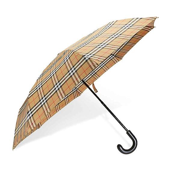 mejor sitio web comprando ahora precio asombroso Burberry Vintage Check - Paraguas Plegable, Color Amarillo y ...