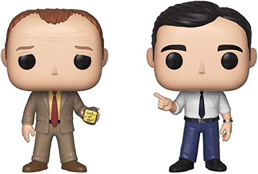 Funko Pop! TV: The Office- Toby vs Michael 2 Pack Standard: Amazon ...