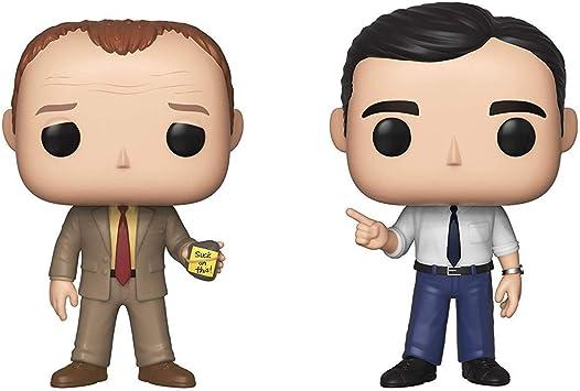 Funko Pop! TV: The Office- Toby vs Michael 2 Pack Standard: Amazon ...