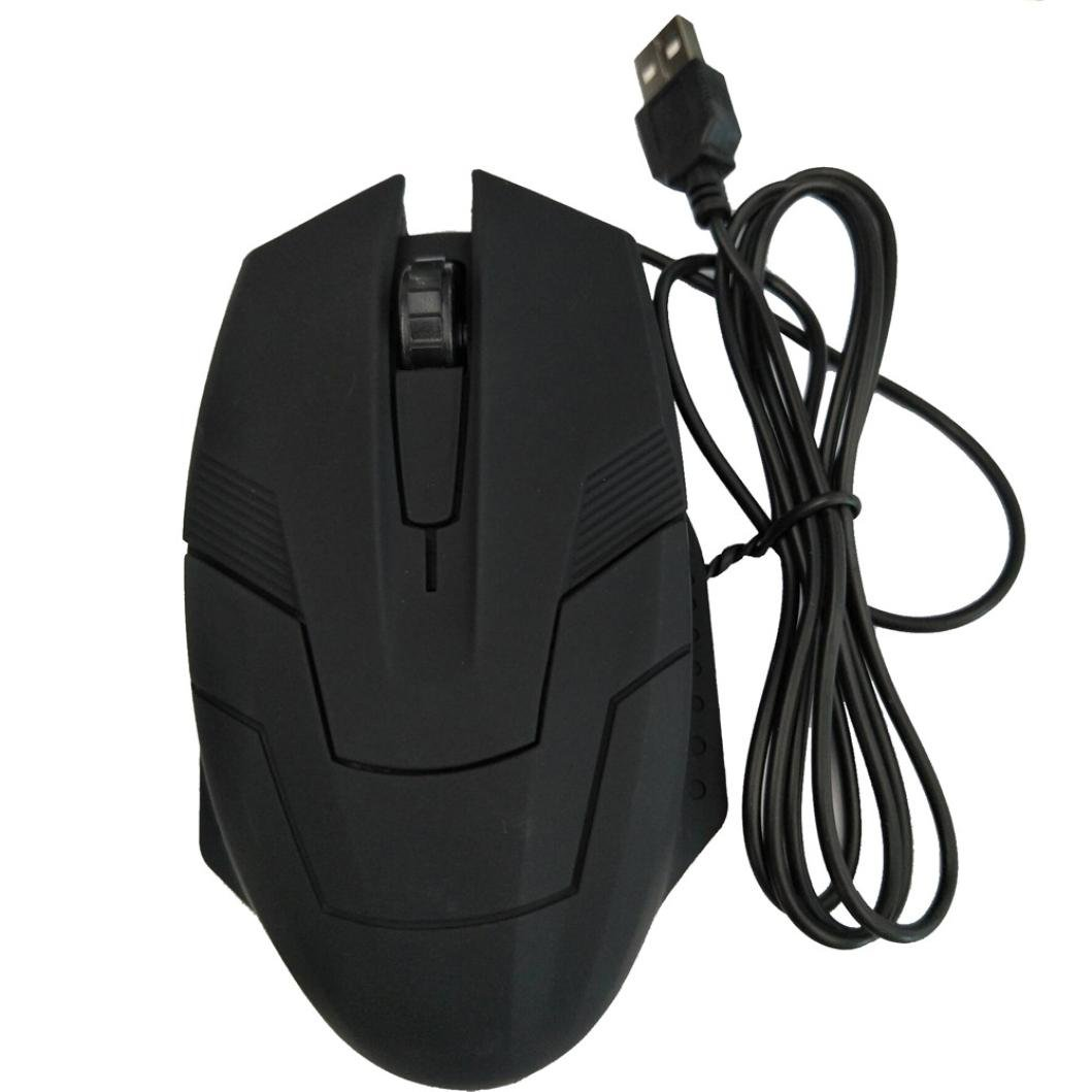 Chezaa Computer Mice,Design 1200 DPI USB Wired Optical Gaming Mice Mouse