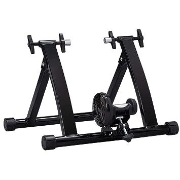 YAHEE Soporte con rodillo para bicicletas, negro, con freno ...
