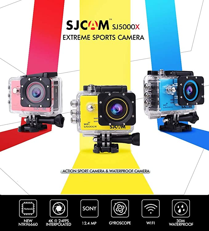 Amazon.com: SJCAM SJ5000 X Elite WiFi 4 K 24 fps 2 K30fps ...