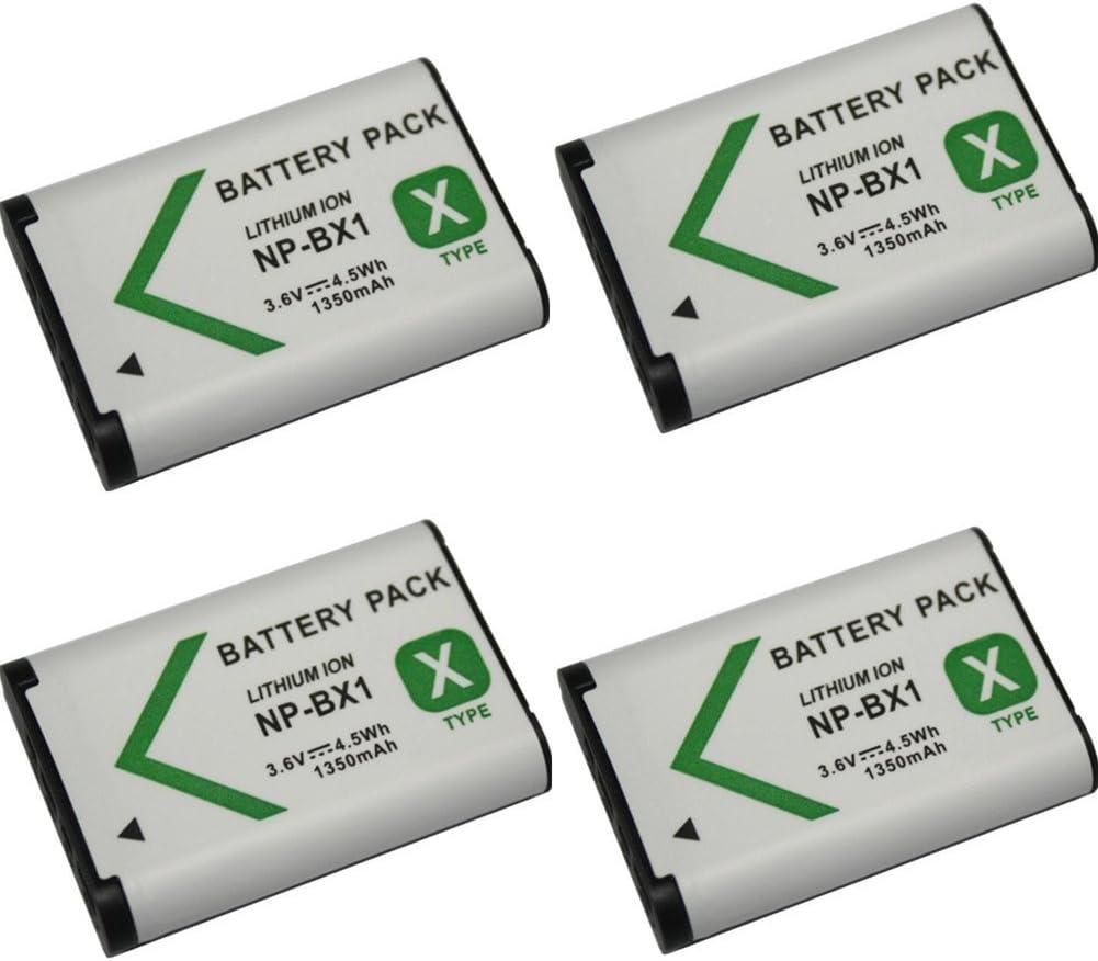 2 pcs Battery 2 Piezas 1350 mAh NP-BX1 NPBX1 Bater/ía para Sony DSC-RX100 IV RX10 II RX1 HX300 WX300 WX500