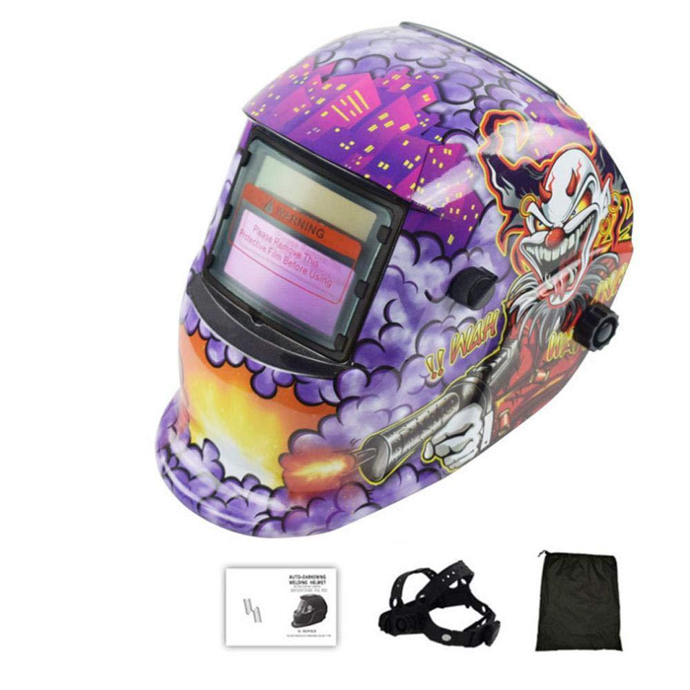 MOGOI Professional Welder Mask C Solar Powered Welding Helmet Auto Darkening Hood with Wide Lens Adjustable Shade Range 4//9-13 Welder Mask Shield for Arc Tig Mig Plasma