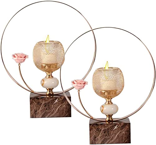 MKUN 2pack of Iron Candle Holder