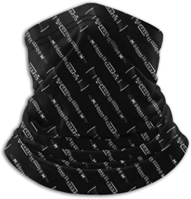 Music Themed Fleece Neck Warmer-Reversible Neck Gaiter Tube,Versatility Ear Warmer Headband For Men And Women