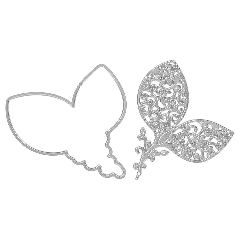Demiawaking Thank You Cutting Dies Stencils Embossing Template Frame for DIY Scrapbooking Album Card Making Crafts Decoration