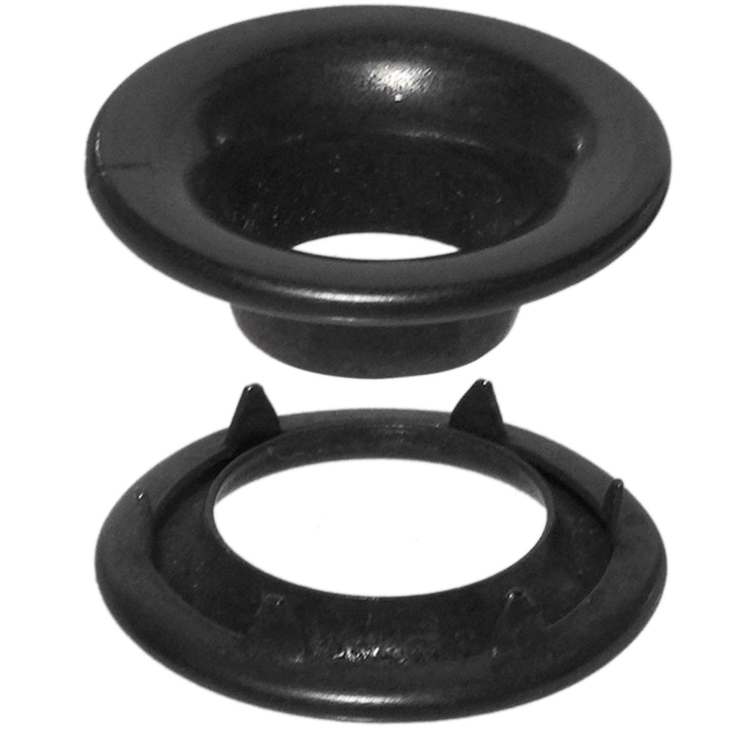Stimpson Rolled Rim Grommet and Spur Washer Dull Black Chem Durable, Reliable, Heavy-Duty #1 Set (720 Pieces of Each)