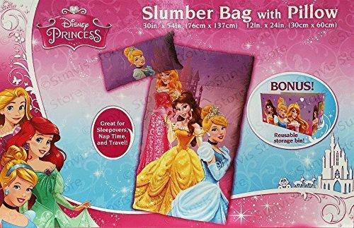 Disney Princess Slumber Bag & Pillow + Storage Bin
