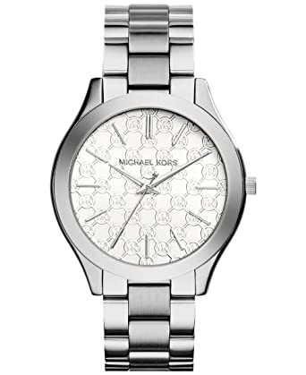 4a0e6314e4d1 Amazon.com  Michael Kors Women s  Slim Runway  Japanese Quartz Movement Stainless  Steel Watch