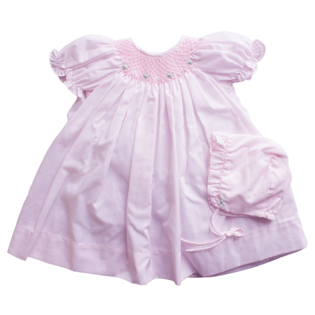 Amazon.com: Petit Ami Daydress With Raglan Sleeves With Smocking and ...