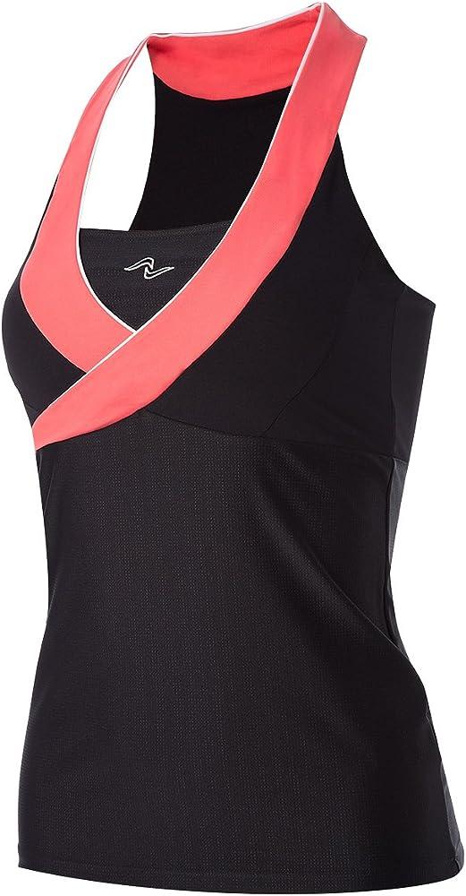 Naffta Camiseta Asas 637, Mujer, Negro/Coral Medio, L: Amazon.es ...