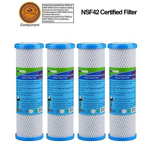 GOLDEN ICEPURE ICP-S-CTO10 4 pack Whole House Sintering Activated Carbon Water Filter 10
