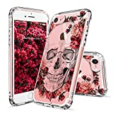iPhone 7 Case, Cool iPhone 7 Case, MOSNOVO iPhone 7 Floral Skull Flower ...