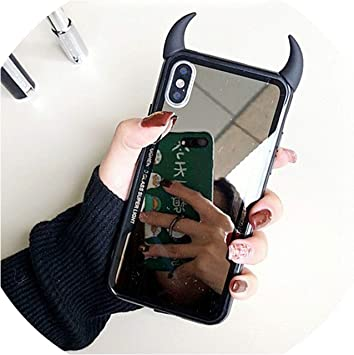 Miroir Phone Case pour iPhone 7 Cas 6 8Plus X XS Max XR Mignon ...