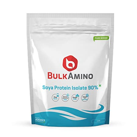 Advance Nutratech Bulk Amino Soya Protein Isolate 90% Powder 1LBS Unflavoured Protein Supplements at amazon