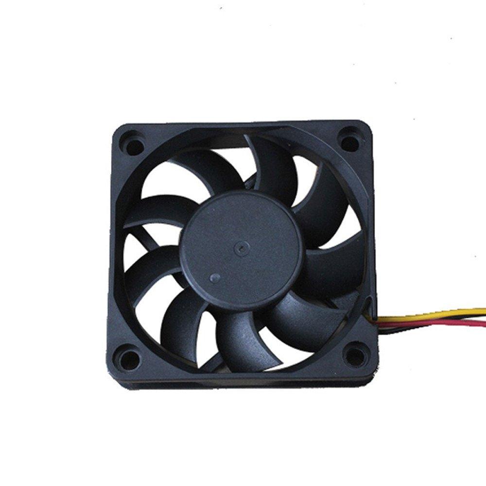 Chezaa Silent Computer Case Fan,12V (Black)