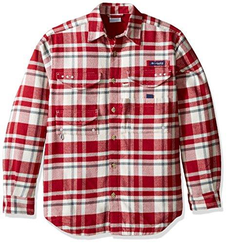 Columbia Sportswear Men's Bonehead Flannel Shirt, Beet Plaid