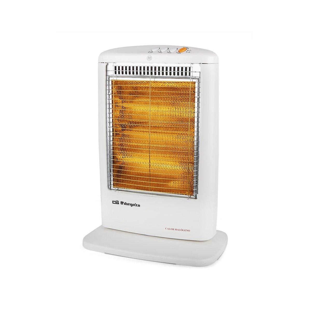 Orbegozo BP 0303 - Estufa eléctrica halógena, movimiento oscilante, 1200 W de potencia, 3 niveles de funcionamiento: Amazon.es: Hogar