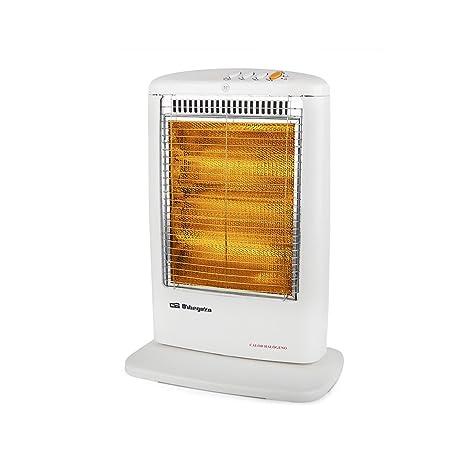 Orbegozo BP 0303 Calentador halógeno eléctrico, 1200 W, Blanco