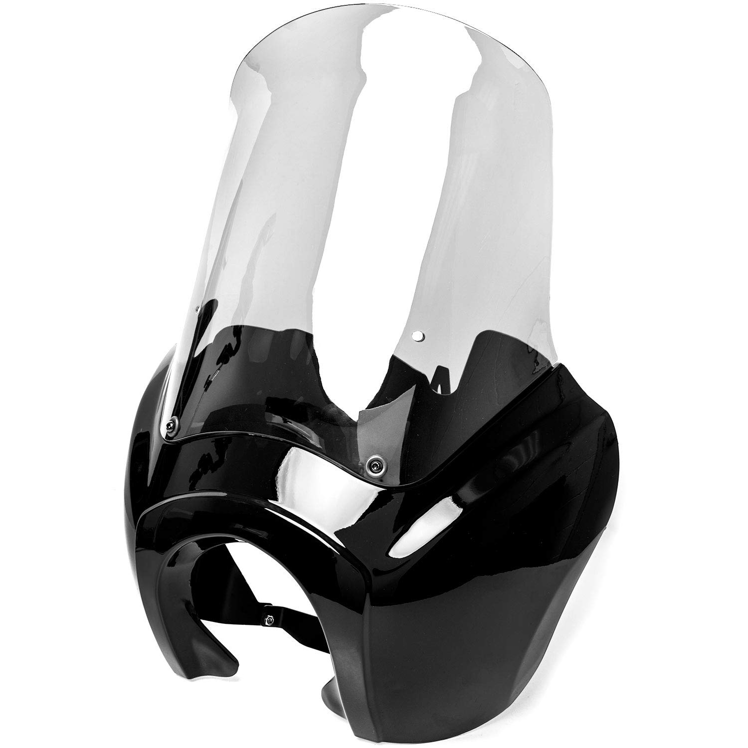 Krator Black & Clear Tall Fairing Windshield Club Style Kit for Harley-Davidson Dyna, Super Glide T-Sport FXDXT, FXR KapscoMoto