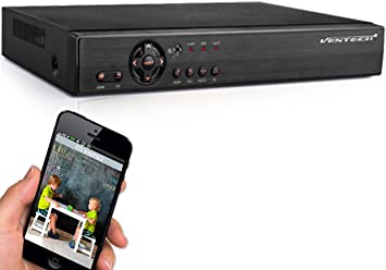 2TB Hard Drive p2p 720P 960P 1080P AHD DVR 8 Channel Ventech 1080 3 in 1 Hybrid Surveillance Recorder Security Systems HDMI Output QR Code Set Up Push Alerts on Cell Phones /& Free App P2P