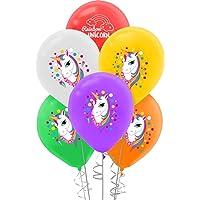 Unicorn Baskılı Pastel Balon 8'li
