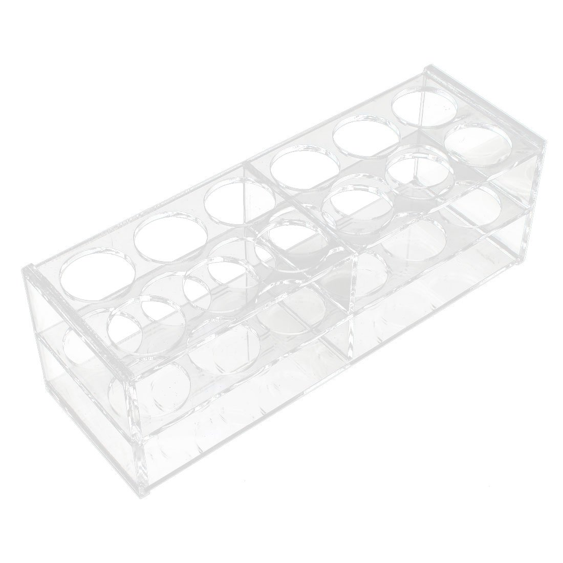 uxcell Lab Clear Plastic 12 Sockets 5ml Centrifuge Tube Holder Stand Rack