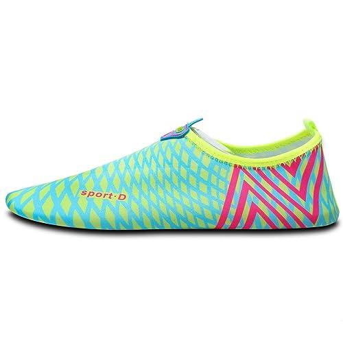 Nclon Niños Adulto Unisex Antideslizante Secado rápido Zapatos de Agua,Respirable Descalzo Aqua Calcetines Zapatillas