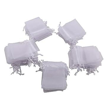 Pixnor - Bolsas de organza para regalo con cordón 7 x 9 cm ...