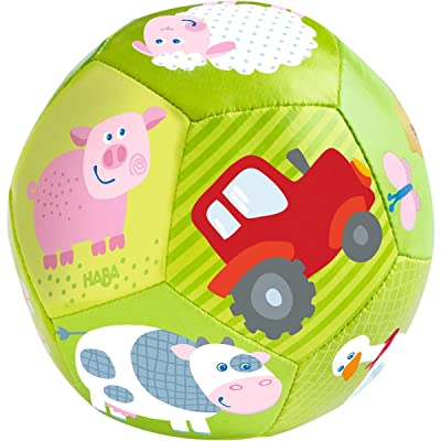 "HABA Baby Ball on The Farm 4.5"" for Babies 6 Months and Up: Sports & Outdoors"