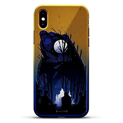 Animals Roaring Bear Luxendary Gradient Series Clear Ultra Thin Silicone Case For Iphone Xs Max 6 5 In Sunrise Blue