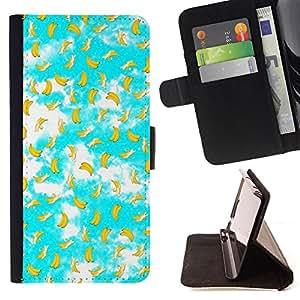 Dragon Case - FOR Samsung Galaxy S5 Mini, SM-G800 - Lovely banana - Caja de la carpeta del caso en folio de cuero del tirš®n de la cubierta protectora Shell
