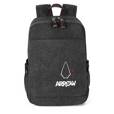 ceb049c2a7a YOURNELO Leisure Marvel DC Travel Bag Rucksack School Backpack Bookbag  (Arrow Black 1)