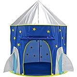 IPOTCH 105x135cm Juguete de Tienda de Campaña Castillo en Forma Espacio Cápsula Infantil Plegable Juego de Viaje Pincic…