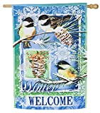 Evergreen Winter Welcome Suede House Flag, 28 x 44 inches Review