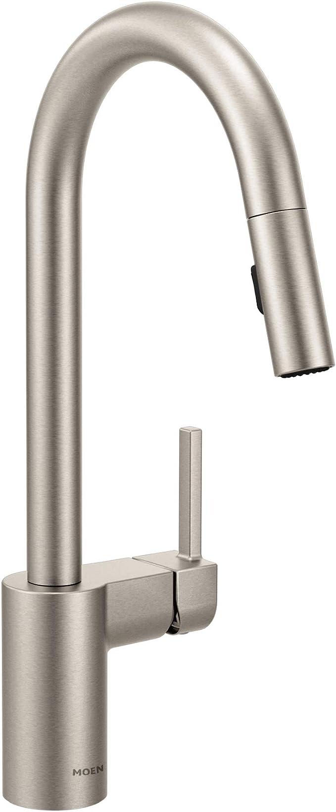 Moen 7565srs: Moen 7565SRS Align One-Handle High-Arc Pulldown Kitchen Faucet