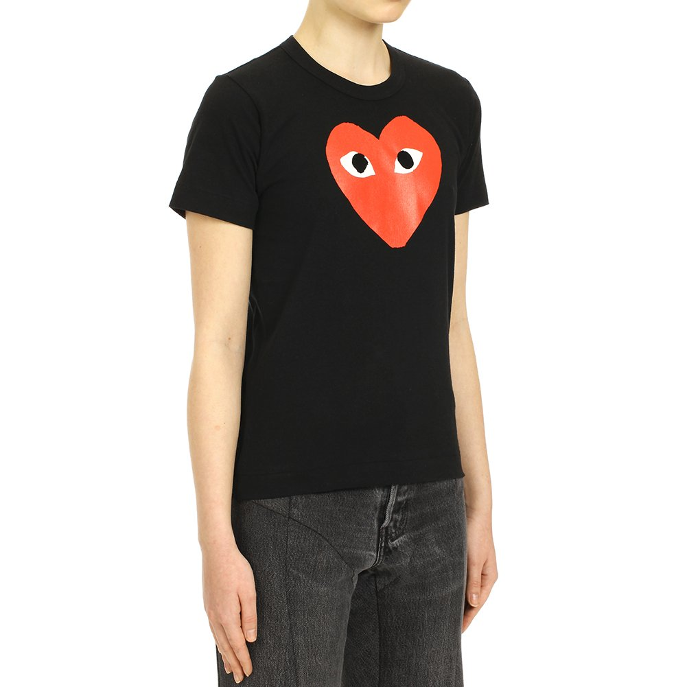 0929a5eeac8f Comme des Garcons Play Women s Red Heart Print T-Shirt P1T111 Black (S)   Amazon.ca  Clothing   Accessories