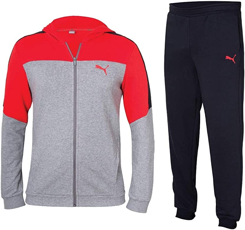 Puma Graphic Sweat Suit (cl) Chándal, niño, 850110 03, Gris Medio ...