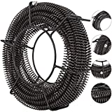 VEVOR Drain Cleaning Cable 60 Feet x 5/8 Inch Drain Auger Cable Cleaner Snake Clog Pipe Sewer Wire Drain Cleaner Machine Drain Auger Pipe (60 Feet x 5/8 Inch Cable)