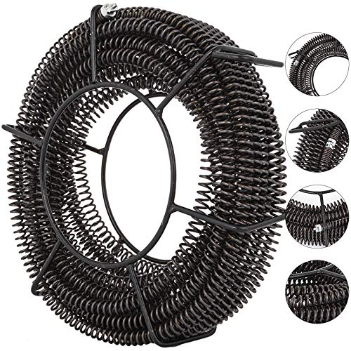 (VEVOR Drain Cleaning Cable 60 Feet x 5/8 Inch Drain Auger Cable Cleaner Snake Clog Pipe Sewer Wire Drain Cleaner Machine Drain Auger Pipe (60 Feet x 5/8 Inch Cable))