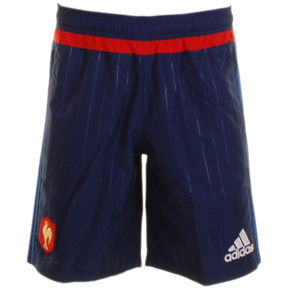 France 2016/17 Players Woven Training Rugby Shorts adidas S07520-2XL