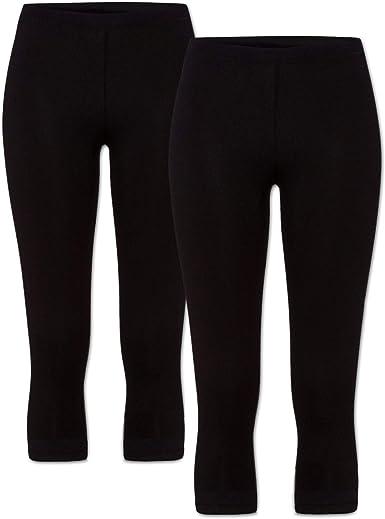 Basics - Leggings pirata para mujer (algodón de 3 unidades): Amazon.es: Ropa y accesorios