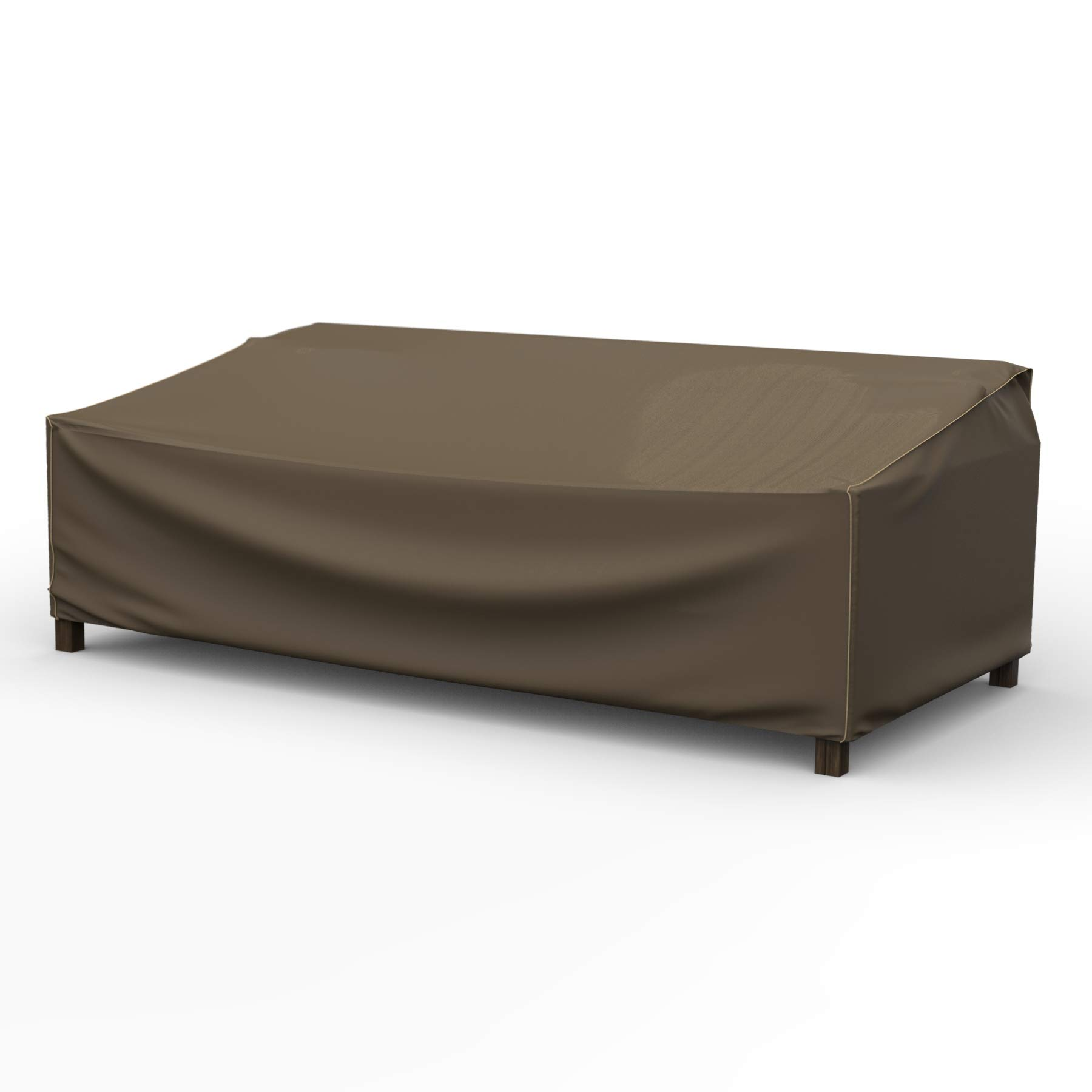 EmpireCovers NeverWet Platinum Outdoor Patio Sofa Cover, Extra Extra Large (Black and Tan Weave)