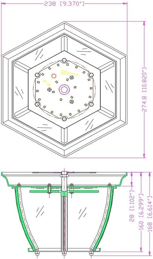 10 1//4, Design House 578518 Canterbury II LED Outdoor Ceiling Light Black