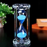 SZAT Hourglass Sand Timer Clock Romantic Mantel Office Desk Coffee Table Book Shelf Curio Cabinet Christmas Birthday Present Gift Box Package(Blue,Crystal,30 Minutes)